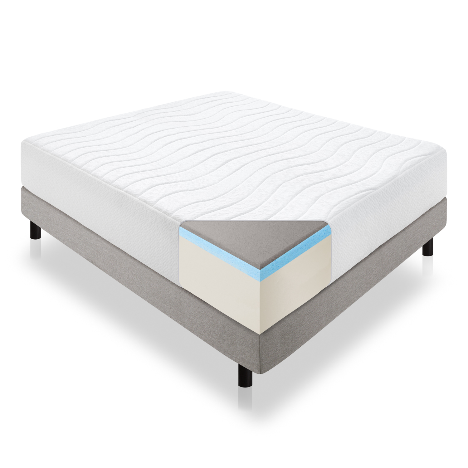 lucid-14-inch-plush-memory-foam-mattress