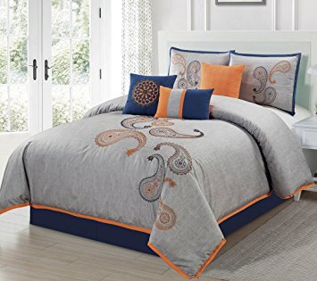 The Last Model Of Our Best Bedding Sets Is The Naomi 7 Piece Developed By  Chezmoi Collection. In Comparison With The Other Models, This Has A More  Strict ...