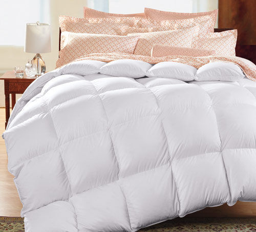 pure linens thread count striped white goose down comforter