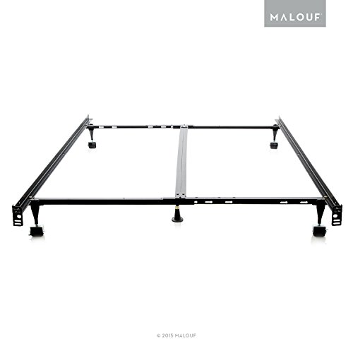 Malouf STRUCTURES Heavy Duty 9-Leg Adjustable Metal Bed Frame