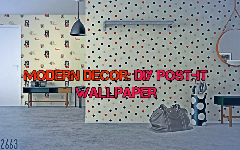 Modern Decor: DIY Post-It Wallpaper